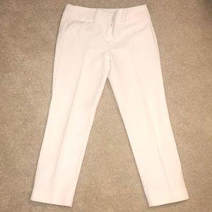 Ann Taylor loft white Marisa ankle pants 0 petite